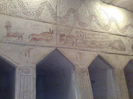 ציורי קיר במערת הקבורה הצידונית