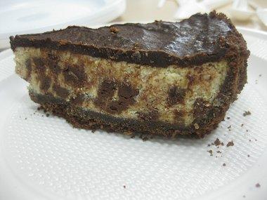 עוגת גבינה, בננות ושוקולד צ'יפס