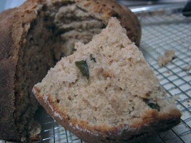 פרוסת לחם בזיליקום וריוויון