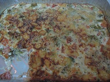 פשטידת ברוקולי ועגבניות