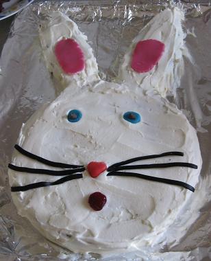 עוגת ארנב - מקושטת