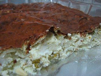 מאפה גבינות, בצל ירוק וצנוברים