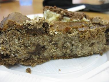 עוגת גבינה, שוקולד ושוקולד צ'יפס