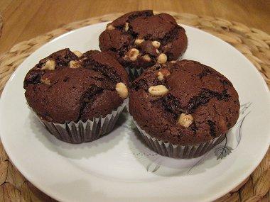 מאפינס שוקולד, קינמון ושוקולד צ'יפס לבן