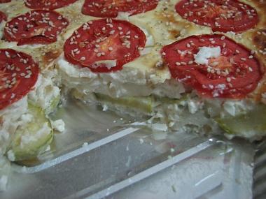פשטידת קישואים ועגבניות, מבט מקרוב