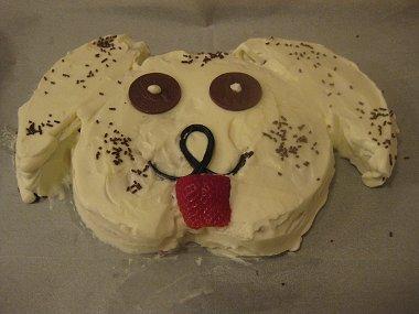 עוגת כלב מוכנה
