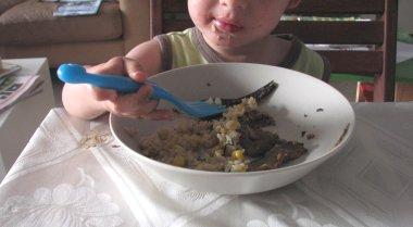 אייל אוכל בקר ואורז