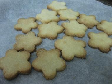 עוגיות פרחים, לאחר אפייה בתנור