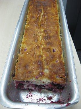 עוגת יוגורט, לימון ודומדמניות