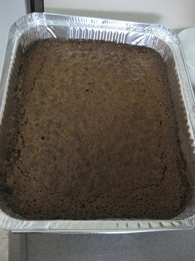 עוגה מלבנית אפויה