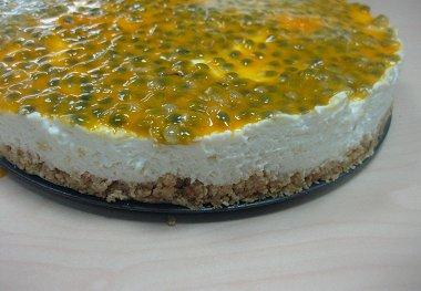 עוגת גבינה ופסיפלורה