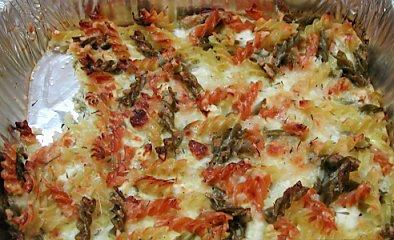 פשטידת פסטה ב-3 צבעים וגבינה בולגרית