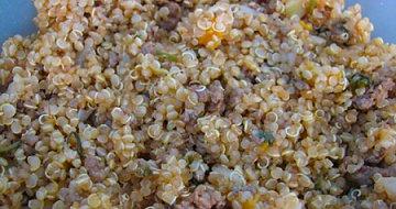 תבשיל קינואה, בשר טחון וירקות