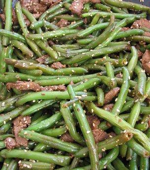 נתחוני שייטל מוקפצים עם שעועית ירוקה