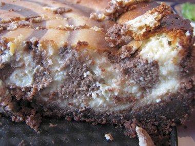 חתיכת עוגת ספירלה - פסים של זברה.